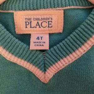 The Children's Place Other - Boys turquoise  blue sweater vest